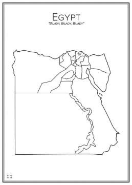 Stadskarta över Egypten