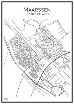 Stadskarta över Maarssen