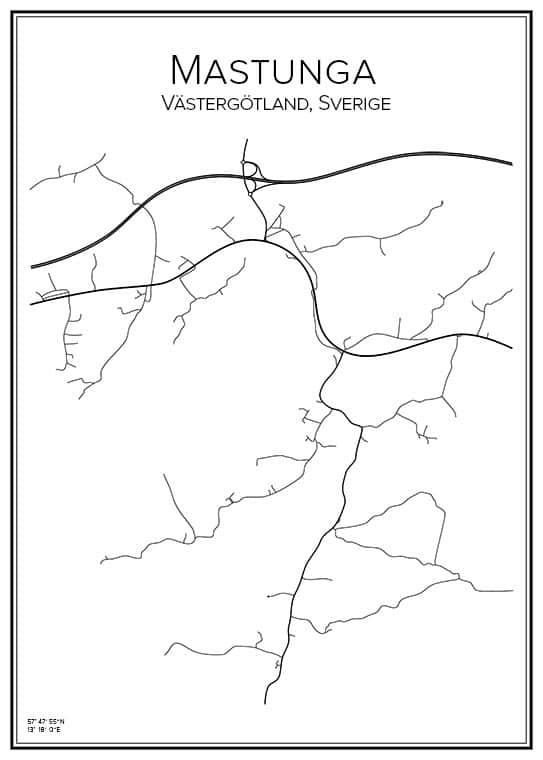 Stadskarta över Mastunga
