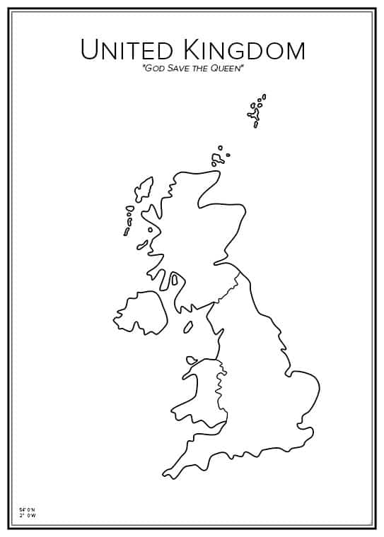 Stadskarta över Storbritannien