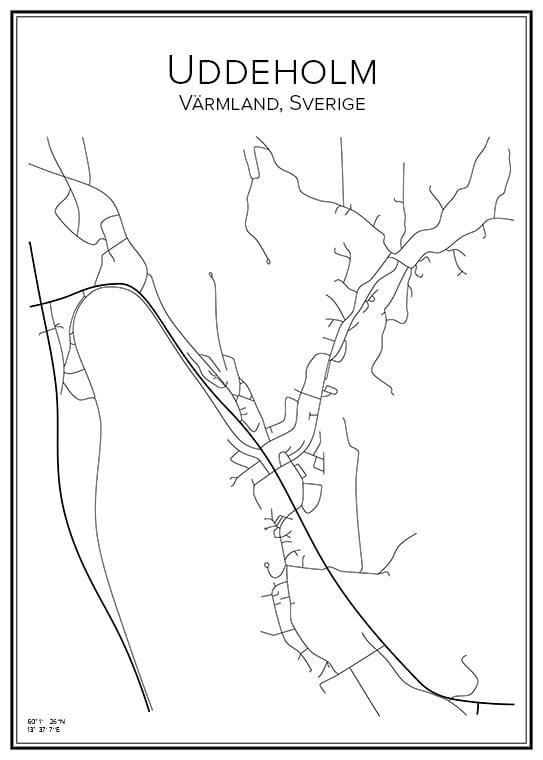 Stadskarta över Uddeholm