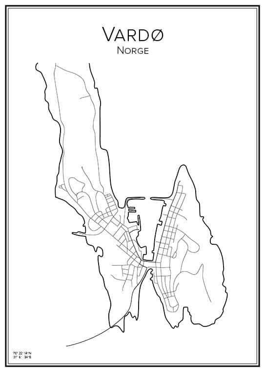 Stadskarta över Vardø