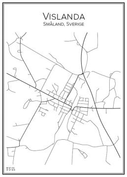 Stadskarta över Vislanda