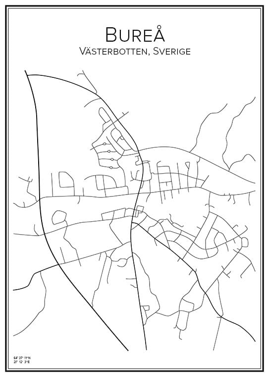 Stadskarta över Bureå