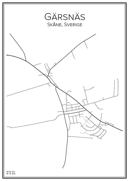 Stadskarta över Görsnäs