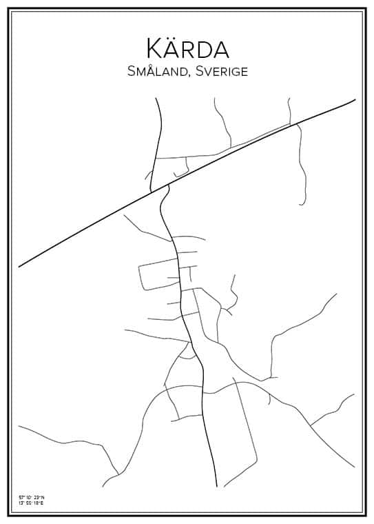 Stadskarta över Kärda