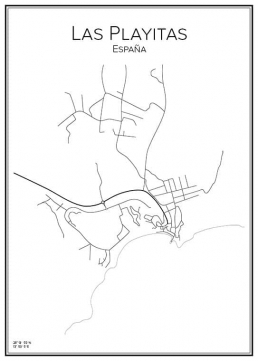 Stadskarta över Las Playitas