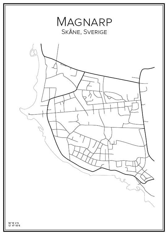 Stadskarta över Magnarp