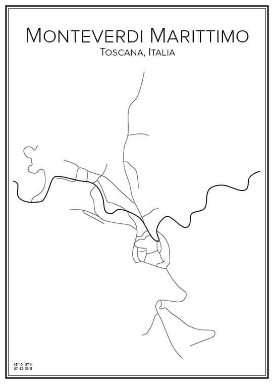 Stadskarta över Monteverdi Marittimo