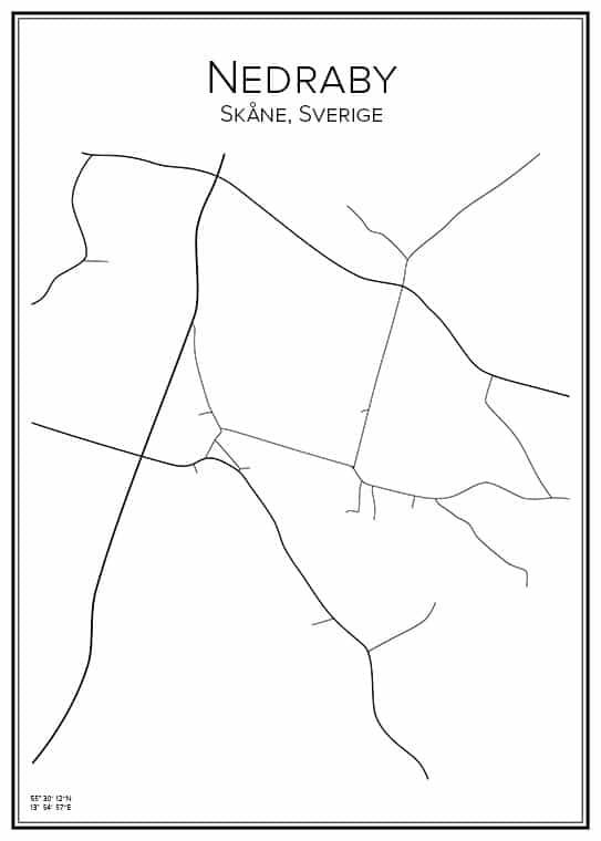 Stadskarta över Nedraby