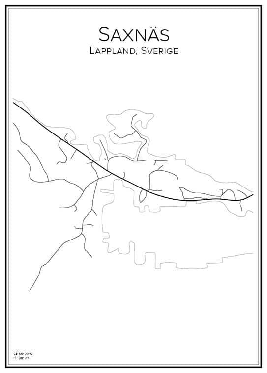 Stadskarta över Saxnäs
