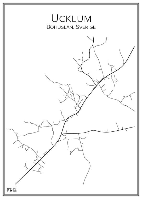 Stadskarta över Ucklum