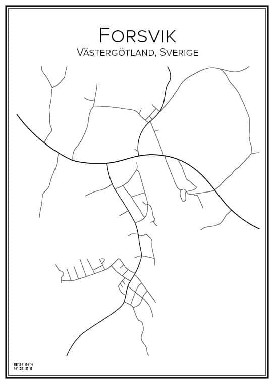 Stadskarta över Forsvik