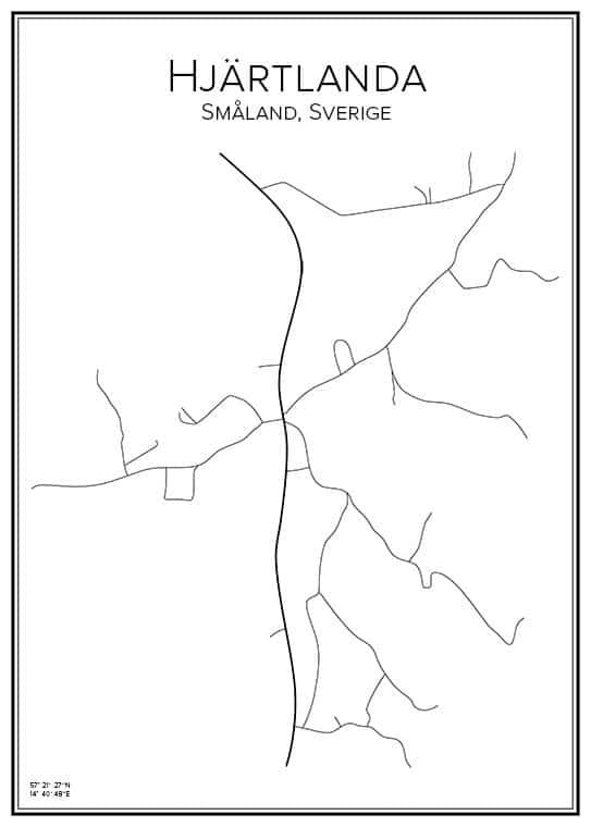 Stadskarta över Hjärtlanda