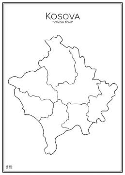 Stadskarta över Kosovo