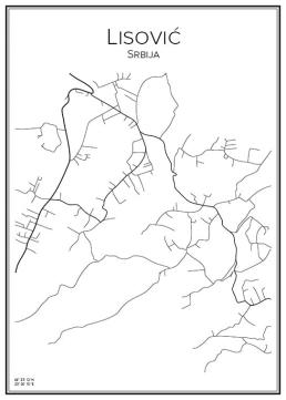 Stadskarta över Lisović