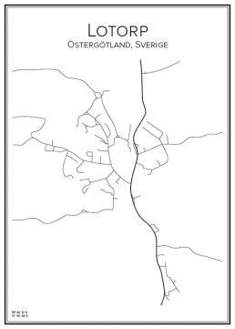 Stadskarta över Lotorp