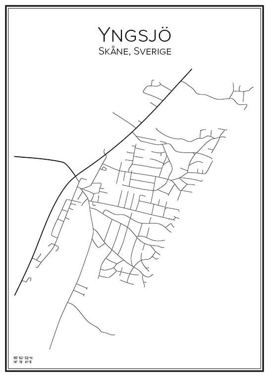 Stadskarta över Yngsjö