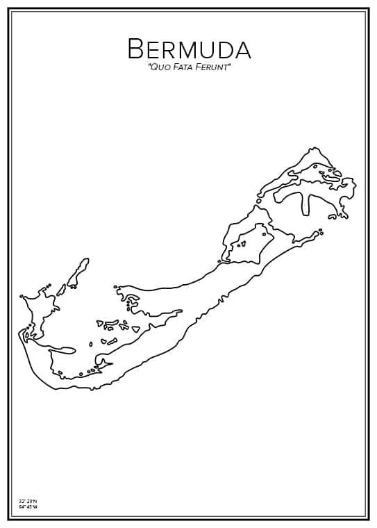 Stadskarta över Bermuda