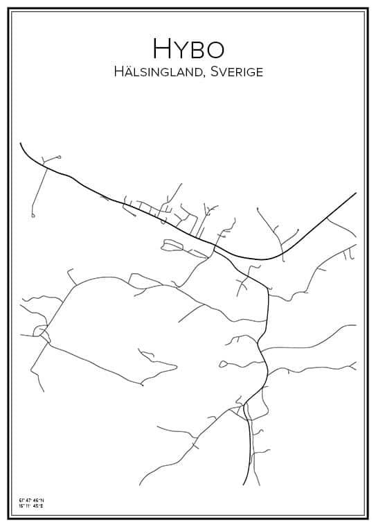 Stadskarta över Hybo