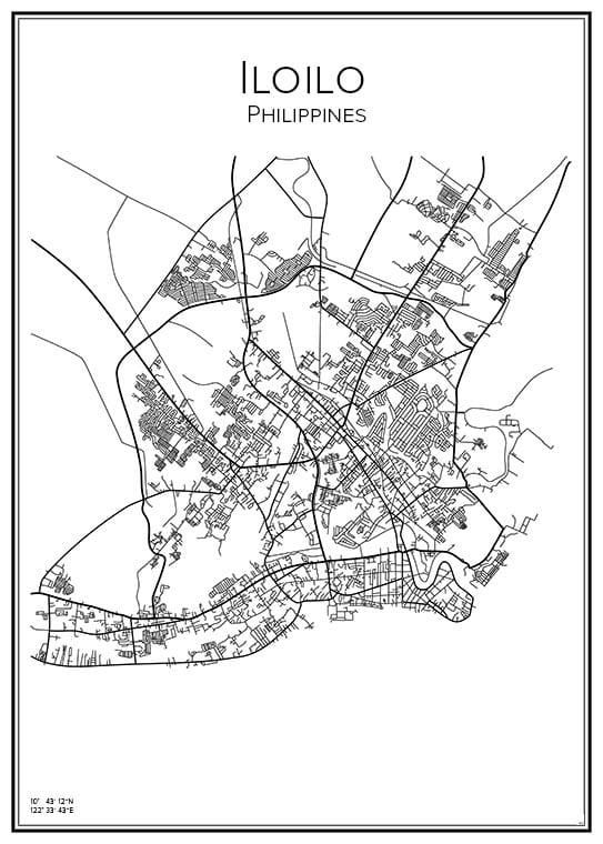 Stadskarta över Iloilo