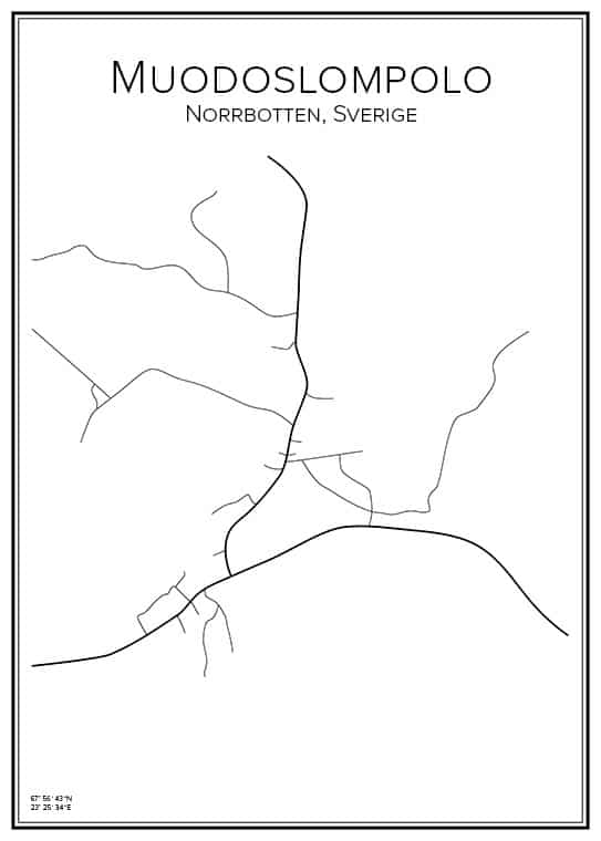 Stadskarta över Muodoslompolo