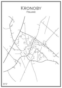 Stadskarta över Kronoby