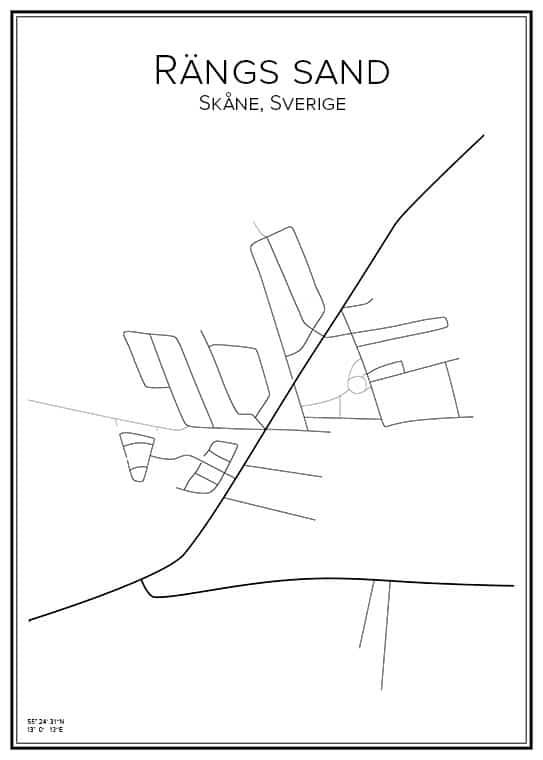 Stadskarta över Rängs sand