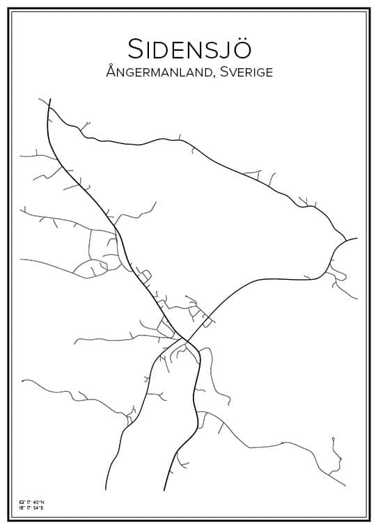 Stadskarta över Sidensjö