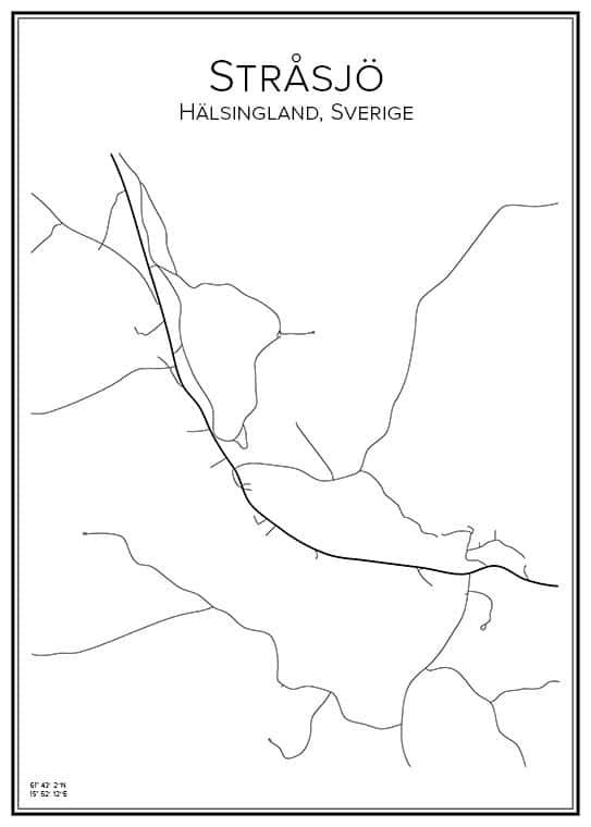 Stadskarta över Stråsjö