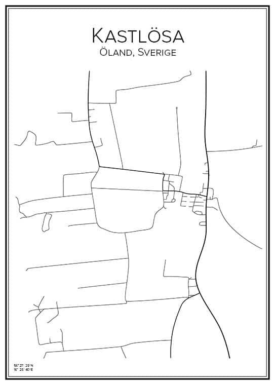 Stadskarta över Kastlösa