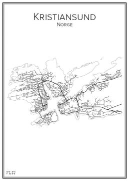 Stadskarta över Kristiansund