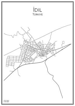 Stadskarta över Idil