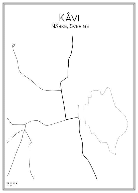 Stadskarta över Kåvi