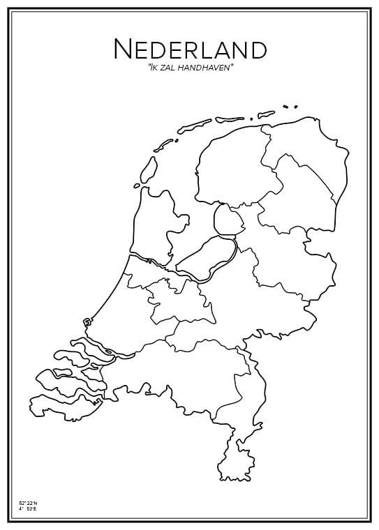 Stadskarta över Nederländerna