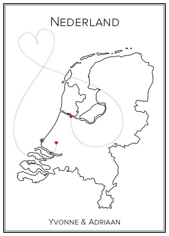Kärlekskarta Nederländerna