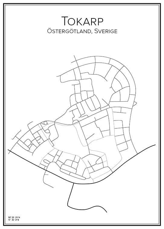Stadskarta över Tokarp
