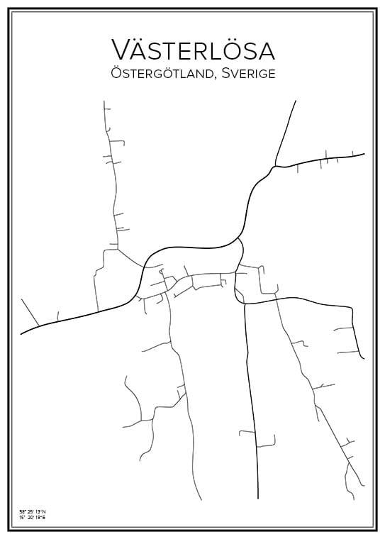 Stadskarta över Västerlösa