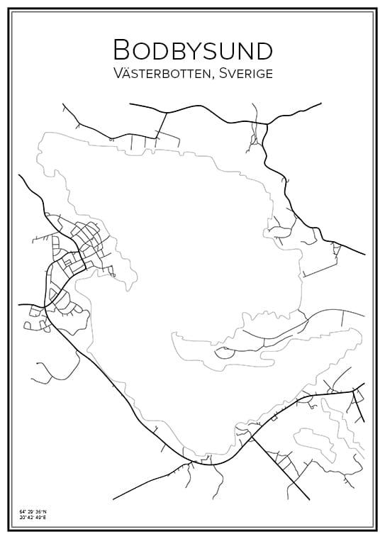 Stadskarta över Bodbysund