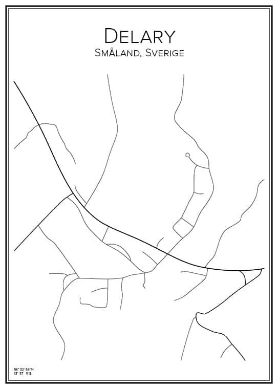 Stadskarta över Delary