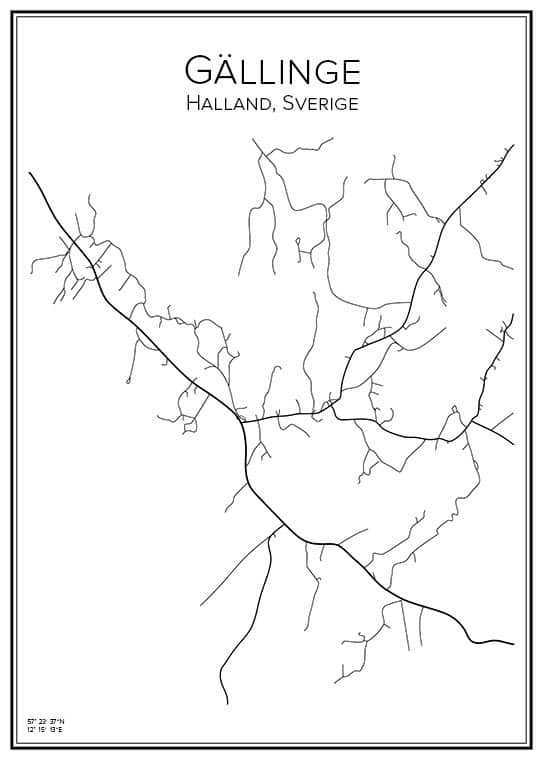 Stadskarta över Gällinge