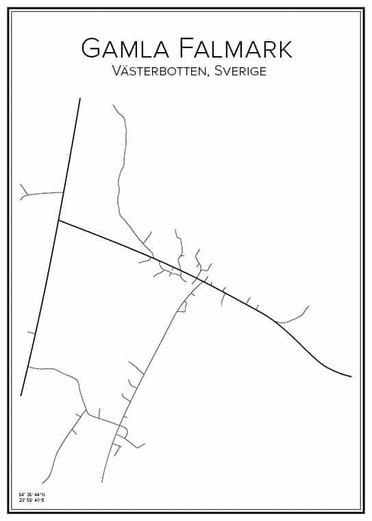 Stadskarta över Gamla Falmark