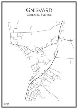 Stadskarta över Gnisvärd