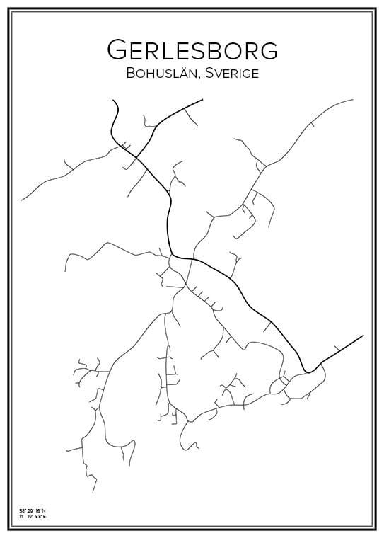 Stadskarta över Gerlesborg