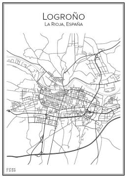 Stadskarta över Logrono
