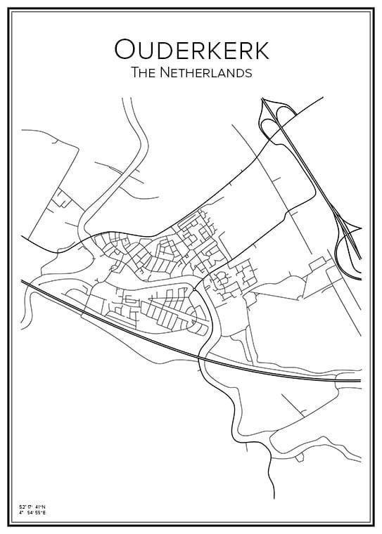 Stadskartor över Ouderkerk