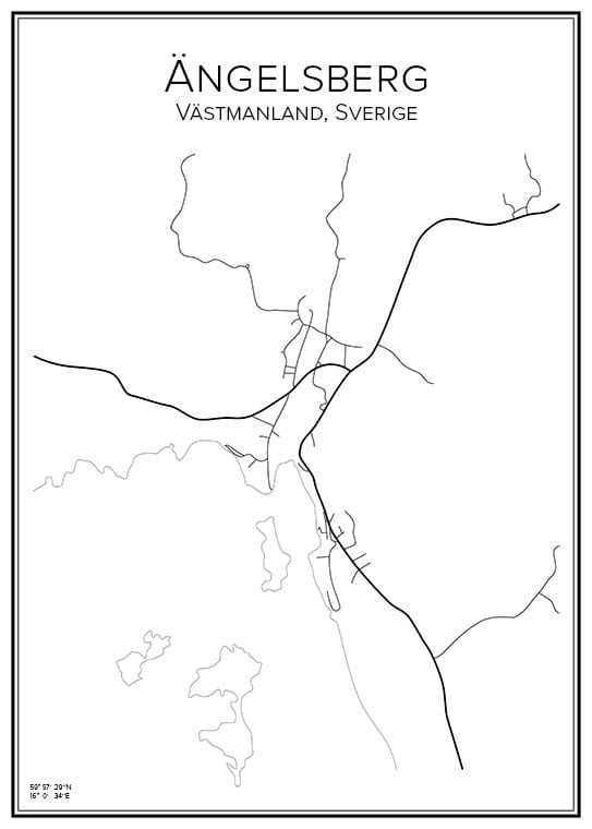 Stadskarta över Ängelsberg