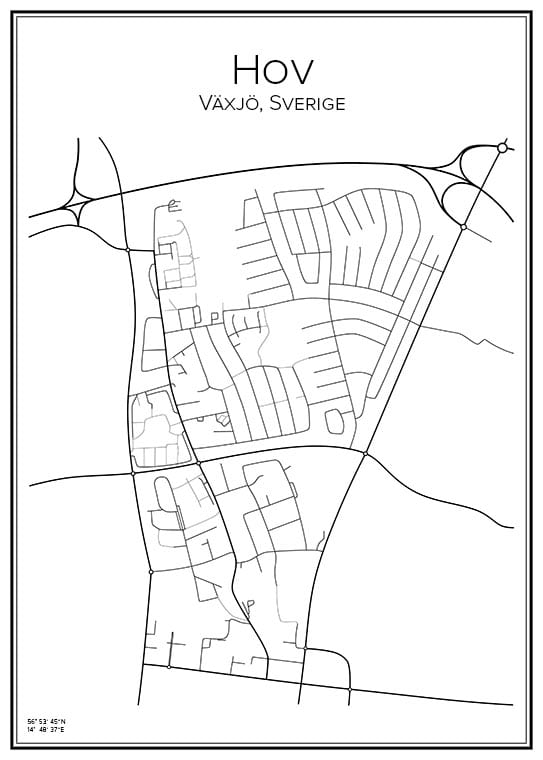 Stadskarta över Hov