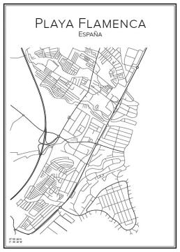 Stadskarta över Playa Flamenca