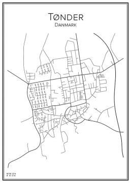 Stadskarta över Tønder